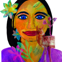 Mi Proyecto del curso: Retrato ilustrado en acuarela. A Illustration, Fine Art, Painting, Drawing, Watercolor Painting, Portrait illustration, Portrait Drawing, and Artistic drawing project by Veronica Vallejo Calvo - 10.25.2021