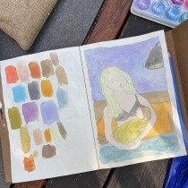 My project in Exploratory Sketchbook: Find Your Drawing Style course. A Illustration, Sketching, Creativit, Drawing, Watercolor Painting, Sketchbook, and Gouache Painting project by Bronte Hogarth - 10.26.2021