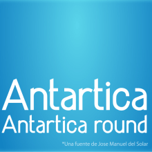 Antartica (font). Un proyecto de Diseño de jose manuel del solar - 23.07.2010