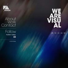 FA Design Website. Un proyecto de Diseño, Publicidad, Desarrollo de software y UI / UX de Francisco Aveledo - 02.02.2011