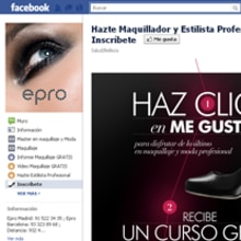 Facebook: Epro - Hazte Maquillador y Estilista Profesional. A Software Development project by Francisco Javier Martínez Pardillo - 09.17.2011