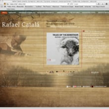 Rafael Catalá, guitarrista   Web. Um projeto de Design, Ilustração e Desenvolvimento de software de José Luis Ferrando Viñola - 30.09.2011
