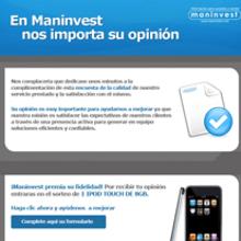 Maninvest Emailings. Un proyecto de Diseño y Publicidad de Silvia Iglesias - 26.10.2011