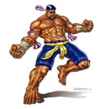 Concept luchador Muay Thai . Um projeto de Ilustração de ángel luis sánchez - 03.11.2011