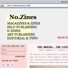Web · No.Zines. Un proyecto de Diseño de Roberto Vidal Studio - 04.11.2011