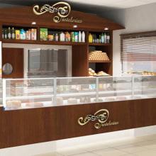 Infografía 3D Pastelería en estación de servicio. A Design, Installations, and 3D project by IngenioVirtual - 11.06.2011