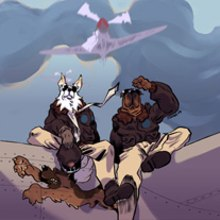 Flying Dogs. A Illustration project by Jaime Posadas Fernández - 05.04.2012