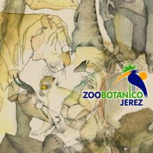 Ilustración animales del Zoo (Jerez). Un proyecto de  de Lara Sànchez Guirado - 17.05.2012