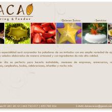 Página Web Cacao Catering & Fondeu. Um projeto de Design, Desenvolvimento de software, Fotografia e Informática de Jose Manuel Couto Collazo - 08.06.2012