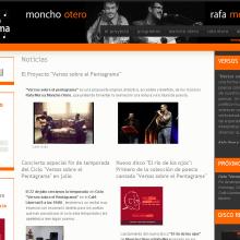 Website Versos sobre el Pentagrama. Un proyecto de Diseño, Música, Audio y Desarrollo de software de Rafael J. Mora Aguilar - 31.07.2012