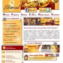 Website (Diseño gráfico) del Café Libertad 8. Un proyecto de Diseño y Publicidad de Rafael J. Mora Aguilar - 01.08.2012