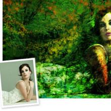 Green woman. Um projeto de Design, Ilustração e Fotografia de Ineshi - 07.09.2012