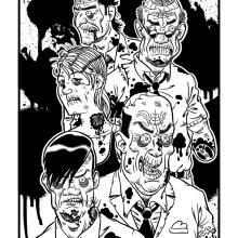 Zombis. Un proyecto de Ilustración de Sergio Covelo Moreira - 25.09.2012