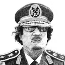 Gadafi. Un projet de Illustration de Nicolás Castell - 22.10.2012