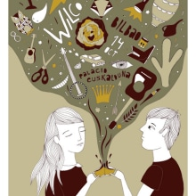 Wilco poster. Un proyecto de Ilustración de Estibaliz Hernández de Miguel - 02.12.2012