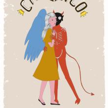 Calexico poster. Un proyecto de Ilustración de Estibaliz Hernández de Miguel - 02.12.2012