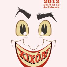 Antroxu Xixón/Carnaval Gijón 2013: Faz. Un proyecto de Diseño, Ilustración y Publicidad de Alejandro Mazuelas Kamiruaga - 22.01.2013