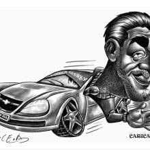Caricatura para un remisero. A Illustration project by Marcelo Pace - 01.21.2013