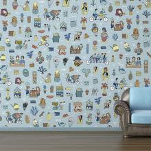 Mural y vinilo The Wallery. Un proyecto de Diseño e Ilustración de Judit Canela - 03.04.2013