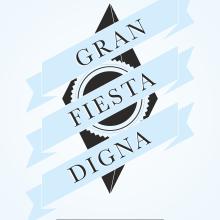 GRAN FIESTA DIGNA. Un proyecto de Publicidad, Ilustración y Diseño de Alejandro Mazuelas Kamiruaga - 28.04.2013