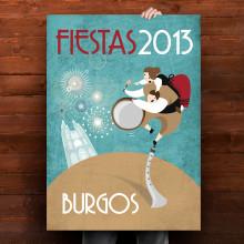 Cartel Fiestas de Burgos. Un proyecto de  de Judith Cebrián de Pedro - 12.05.2013