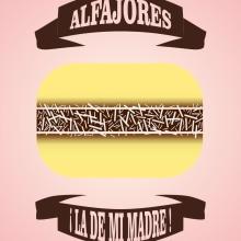 ALFAJORES ¡La de mi madre!. Un proyecto de Diseño, Ilustración y Publicidad de Alejandro Mazuelas Kamiruaga - 14.05.2013