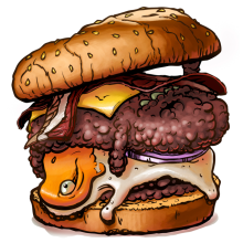 Burger. Um projeto de Design e Ilustração de M.Tejedo - 22.07.2013