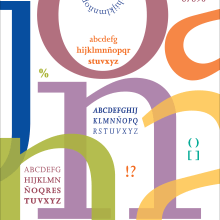 Cartel tipográfico . Un progetto di Design di Mercedes Campo Andreu - 27.07.2013