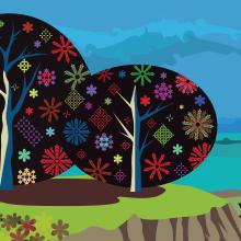 Ilustración paisaje. Un progetto di Design e Illustrazione di Mercedes Campo Andreu - 27.07.2013