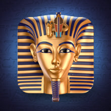 Tutankhamun Mask Icon. Um projeto de Design, Ilustração e 3D de Edu Torres - 12.08.2013
