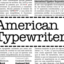 American Typewriter. A Design project by Laura Alonso Araguas - 11.11.2013