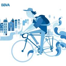 BBVA / Blue Joven. Um projeto de Design e Ilustração de Rebombo estudio - 16.10.2013