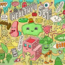 Healthy U. Un proyecto de Diseño, Ilustración y Publicidad de Eduardo Bertone - 28.11.2013