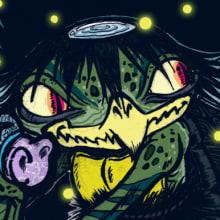 """Kappa yokai. Un proyecto de Ilustración y Diseño de personajes de Javier """"KF"""" - 02.12.2013"""