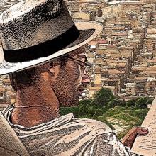 """Ilustración para una de las piezas de la Campaña de Fomento de la Lectura 2013 """"Libros a la Calle"""" de la Comunidad de Madrid.. Um projeto de Ilustração de ángel luis sánchez - 15.12.2013"""
