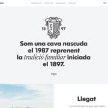 Web bodega Maria Rigol Ordi. Cava familiar. . Um projeto de Design e Desenvolvimento de software de Atipus - 22.12.2013