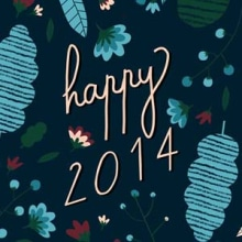 Happy 2014 - Postal. A Design & Illustration project by ana seixas - 11.30.2013
