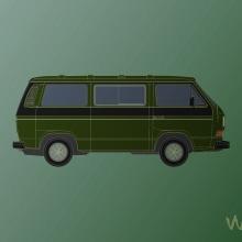 VW T3. Un proyecto de Diseño, Ilustración y Publicidad de Alejandro Mazuelas Kamiruaga - 25.11.2013