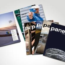 Panel, revista. Diseño de portadas y maquetación interior.. A Design project by Natalia Alcalá Melero - 01.18.2014