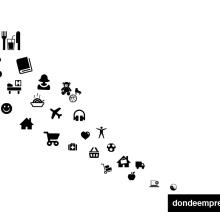 """Landing page """"dondeemprendo"""" e iconografía (diseño adapatativo). Un proyecto de Diseño, Ilustración y Publicidad de Esther Martínez Recuero - 05.08.2010"""