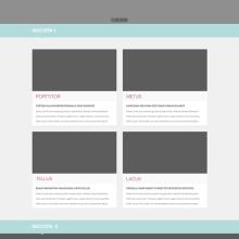 Diseño web - Plantilla Cantor. Un projet de Design  et Informatique de Erika Aguilar - 22.01.2014