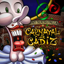 Carnaval de Cádiz. Imanes troquelados.. Un projet de Illustration de Pepetto - 25.01.2014