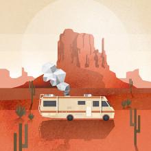 Breaking Bad - Caravana. Um projeto de Design e Ilustração de Ricardo Polo López - 29.01.2014