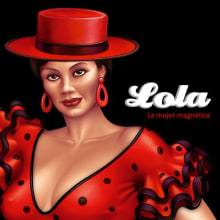 Lola, la mujer magnética.. Un projet de Design graphique et Illustration de Pepetto - 03.02.2014