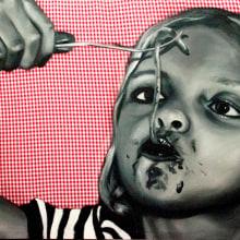 serie niños italianos comiendo. Un proyecto de Bellas Artes y Pintura de Judith Cebrián de Pedro - 10.03.2013