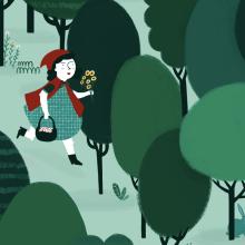 Caperucita Roja. A Illustration project by ana seixas - 03.17.2014