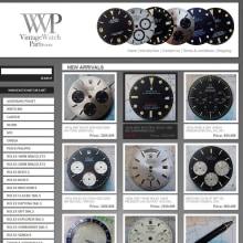 PHP + MySQL + CMS (Gestor de Contenidos) - Vintage Watchs Parts. A Web Development project by Francisco Javier Martínez Pardillo - 05.19.2013