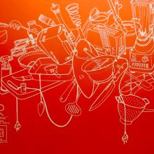 GR_Murales oficinas JUST EAT España . Un proyecto de Ilustración, Br, ing e Identidad y Pintura de Alfonso Girón Pérez - 27.03.2014