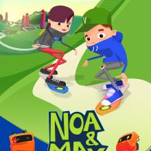 Portfolio serie infantil 'Noa & Max' . A 3-D, Animation und Design von Figuren project by Lorena Díaz Arrondo - 29.07.2013