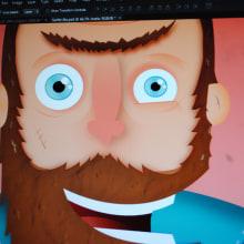 """""""Vispo"""" el surfista.. Un proyecto de Ilustración y Diseño de personajes de Alejandro Bernatzky - 05.05.2014"""